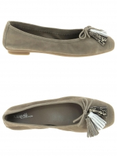ballerines reqins harmony pompon taupe