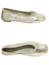 ballerines reqins harmony sequins or/bronze