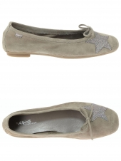 ballerines reqins hello peau/lame taupe