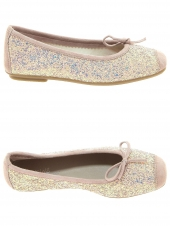 chaussures basses de style ballerine reqins harmony glitter rose