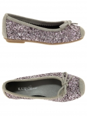 chaussures basses de style ballerine reqins harmony jr glitter violet