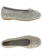 chaussures basses de style ballerine reqins harmony jr glitter argent