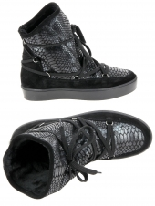 chaussures montantes fourrees reqins bankise mally noir