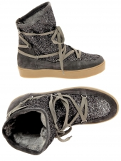 chaussures montantes fourrees reqins bankise sparkle taupe