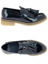 chaussures plates riva di mare 162-024 bleu
