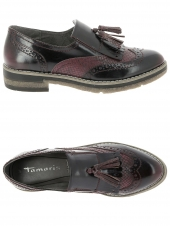 mocassins tamaris 24608-550 bordeaux