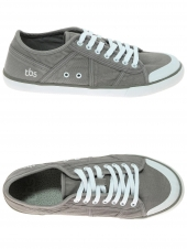 chaussures basses en toile tbs violay gris