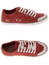 chaussures basses en toile tbs violay rouge