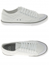 chaussures basses en toile tbs violay blanc