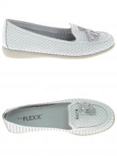 mocassins the flexx dream weaver blanc