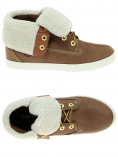 chaussures montantes fourrees timberland glatsnbry marron
