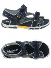sandales timberland leather and fabric 2-strap bleu