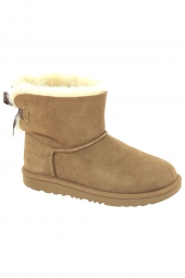 bottes fourrees ugg mini bailey bow ii marron