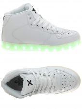 baskets mode wize and ope led-hi-01 blanc
