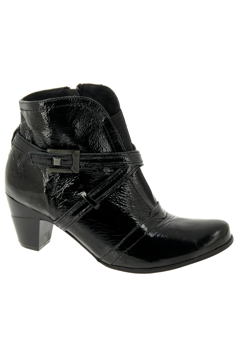 Bottines confort METAYER en cuir lisse noir LKiE3jqCA