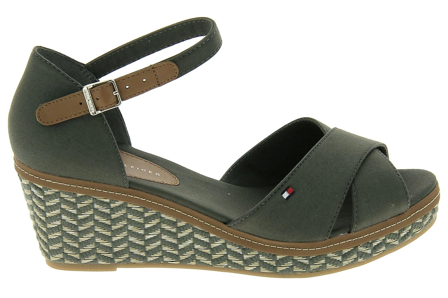 Vert Fw0fw02648 D Tommy Espadrilles Elba Iconic Chaussures Hilfiger dWreExoQCB