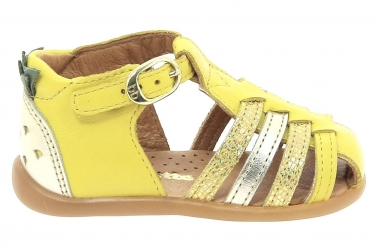 Nu pieds babybotte jaune guyana chaussures pour bebe fille