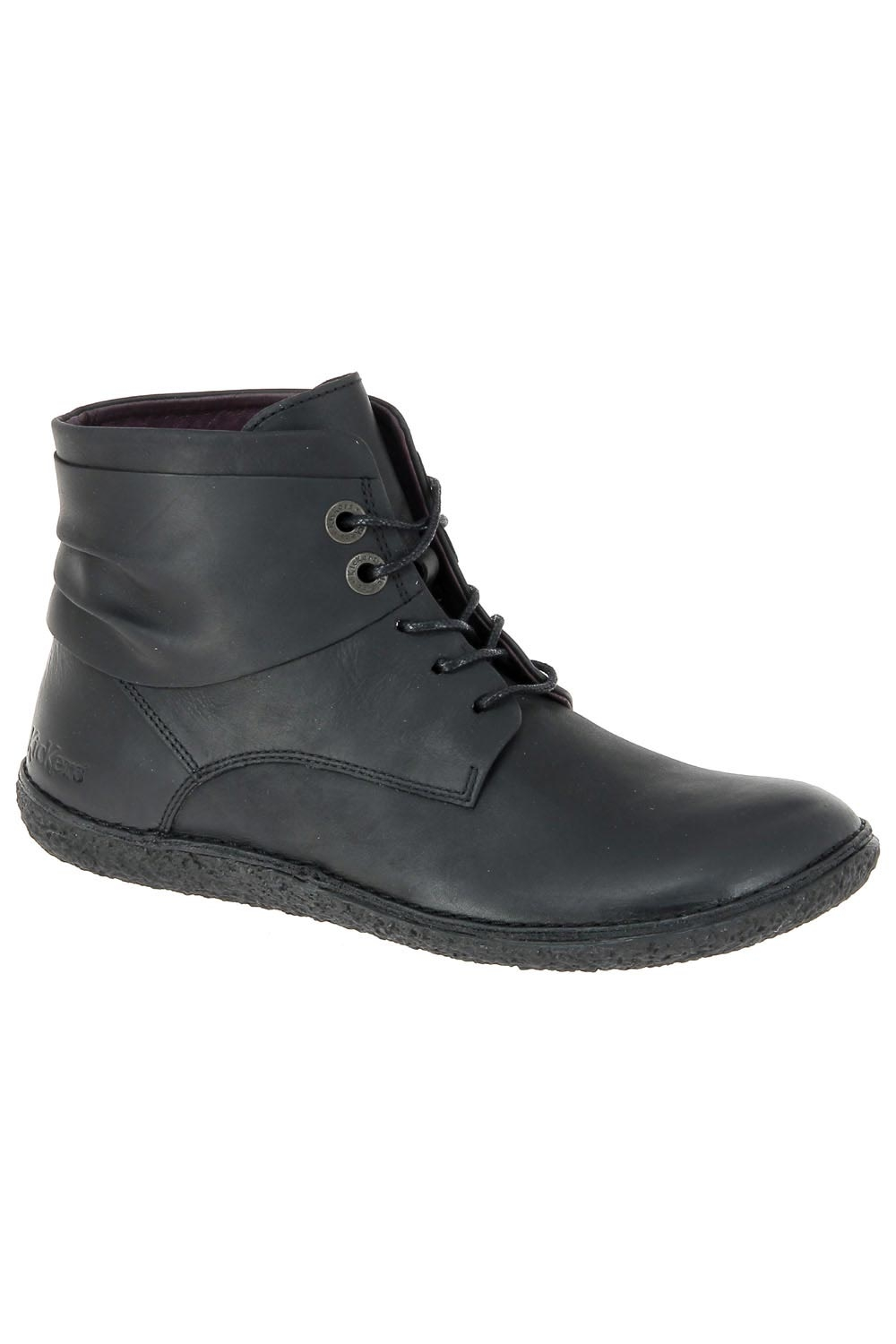 88a9bb8efd0805 Bottines casual kickers noir hobylow chaussures femme kickers