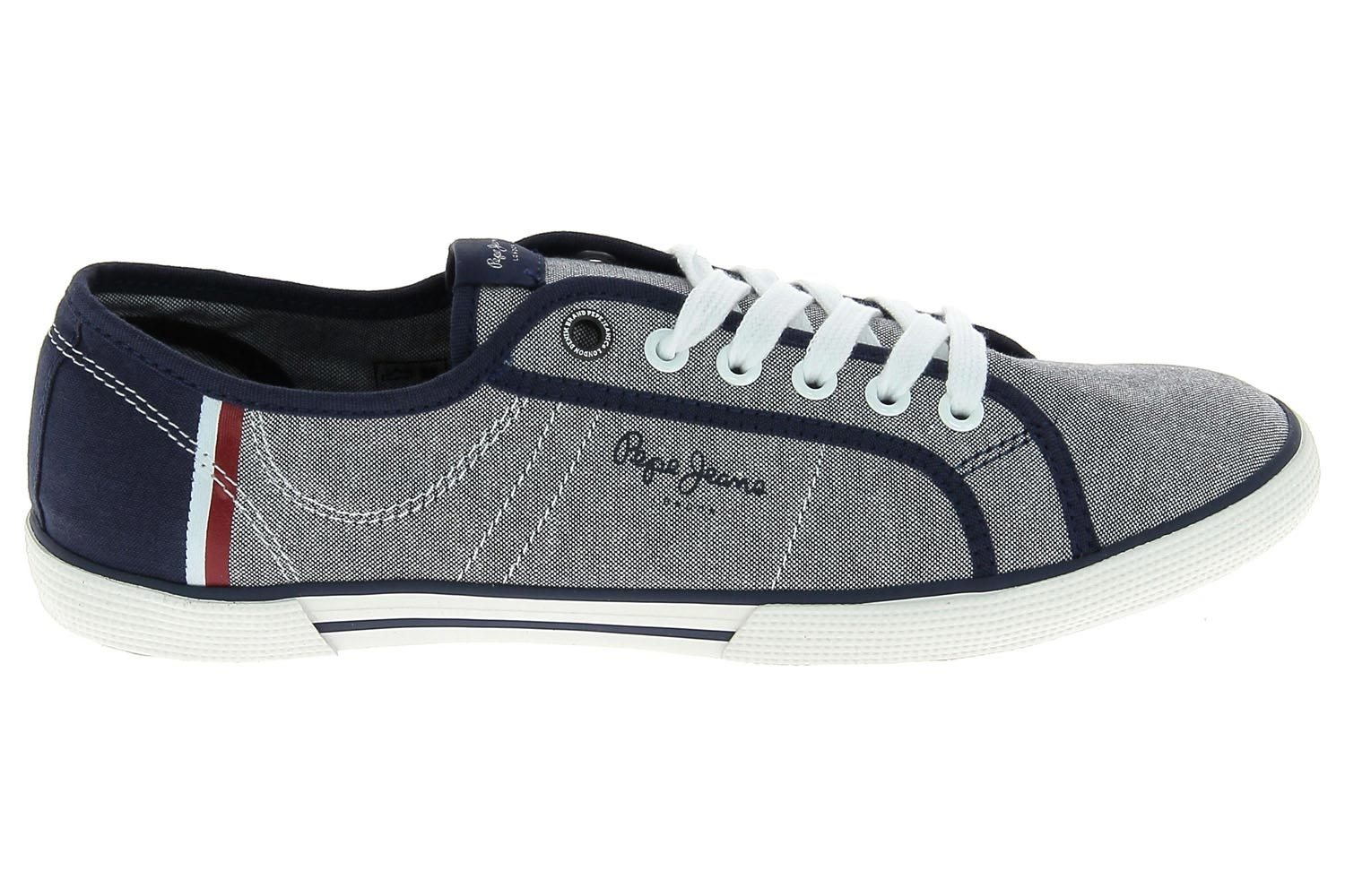 Chaussures En Toile Pepe Jeans Bleu Pms30356 Chaussures Homme Pepe Jeans