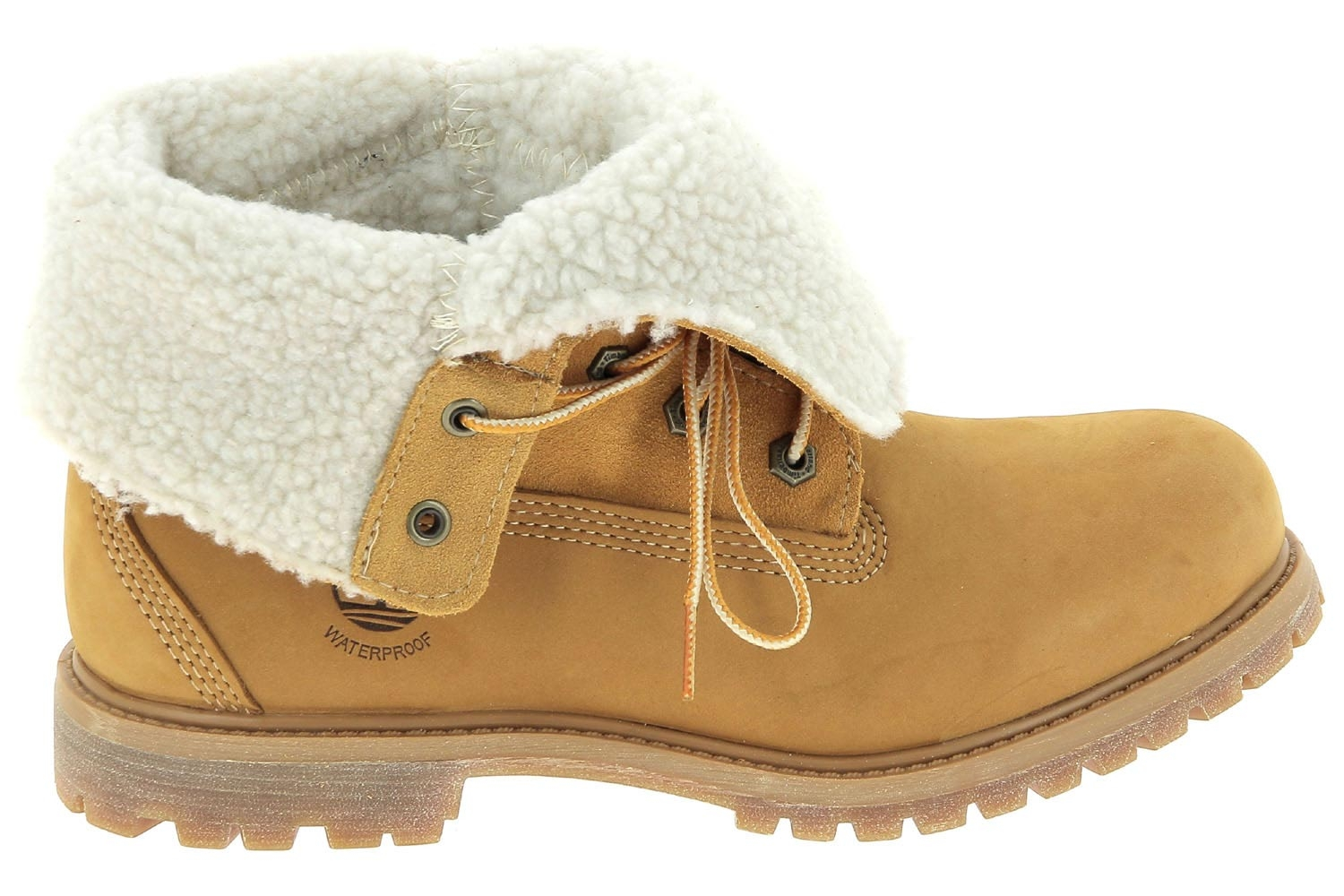 Chaussures montantes fourrees timberland jaune authentics