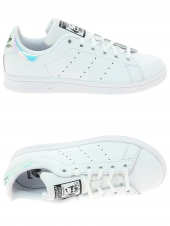 chaussures basses adidas stan smith j blanc