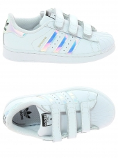 chaussures basses adidas superstar cf c blanc