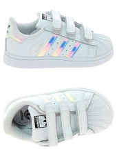 chaussures basses adidas superstar cf i blanc