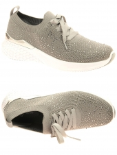 chaussures plates ara 54510-08 h gris