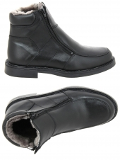 chaussures montantes fourrees arima aspin noir