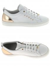 chaussures basses bana & co 45555 vitello blanc