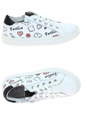 chaussures basses bellamy pensee blanc