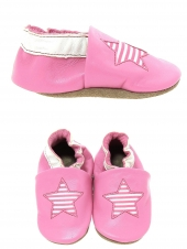 chaussures layette bellamy etoile rose