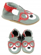 chaussures layette bellamy lunette gris