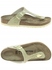 mules birkenstock gizeh bf magic or/bronze