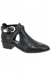 bottines d'ete bronx 47035-k-01 noir