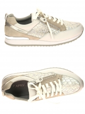 chaussures plates caprice 23600 921 h or/bronze