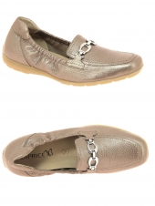 mocassins caprice 24661-936 g or/bronze