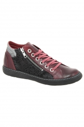 bottines casual chacal 4513 bordeaux