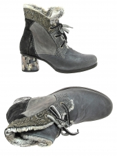 chaussures montantes fourrees charme 3233p gris