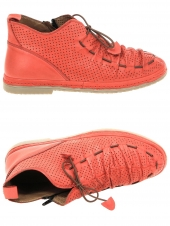 chaussures plates coco abricot sadia rouge