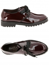 chaussures plates coco abricot v0274 b bordeaux