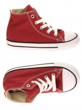 chaussures en toile converse all star hi rouge