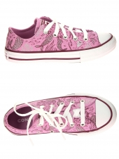 chaussures en toile converse all star ox peony rose