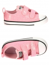 chaussures en toile converse ct all star ox cherry-2v rose