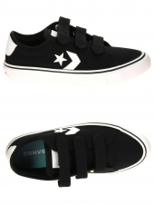 chaussures en toile converse star replay ox 3v noir