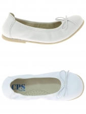 chaussures basses de style ballerine cps ava blanc