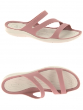 mules en plastique crocs swiftwater sandal rose