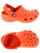 sabots en plastiques crocs classic kid orange