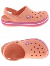 sabots en plastiques crocs crocbands kids orange