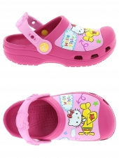 sabots en plastiques crocs hello kitty rose